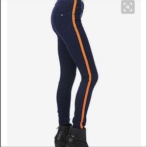 Rag & Bone Skinny Tuxedo Jeans Navy Orange Size  6